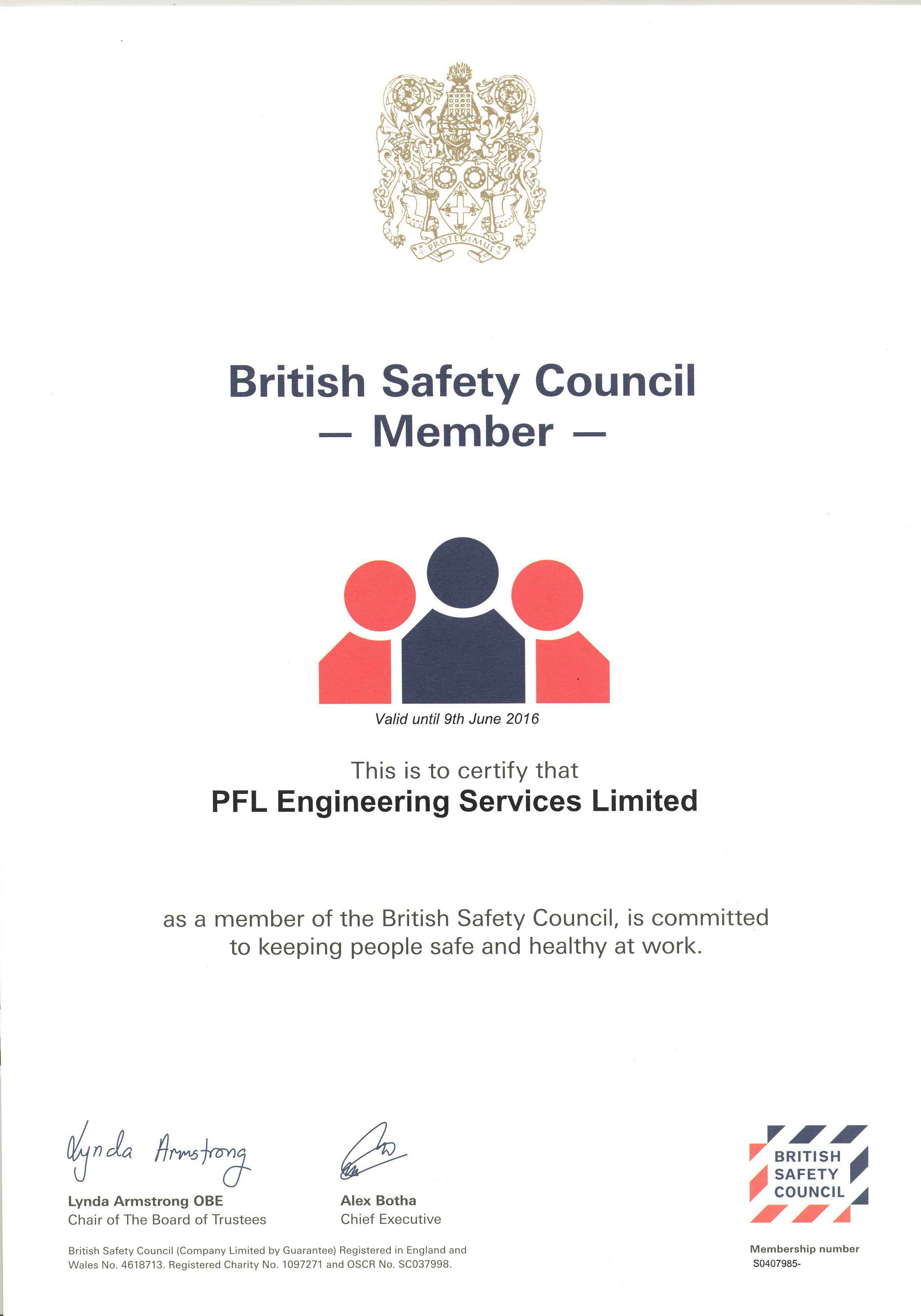 British Safety Council Certified